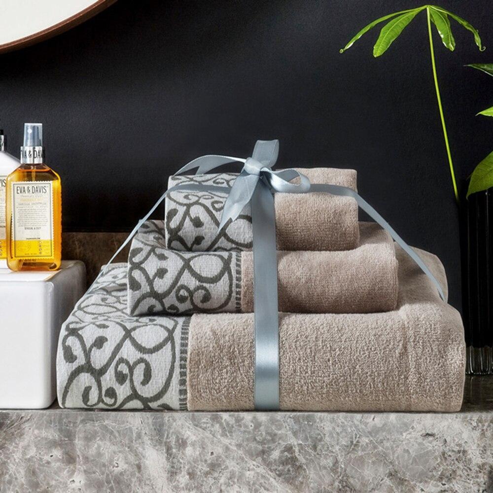 Nuevo conjunto 3 en 1 algodón 100 toalha de banho towel adultos beach towel, Tex