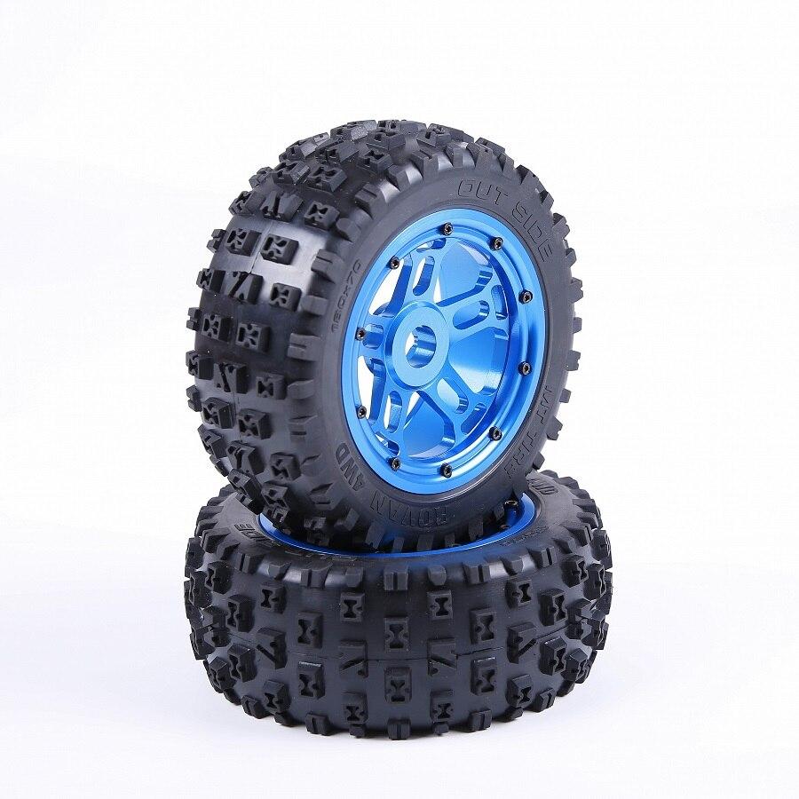 CNC металлический Ступица колеса whit сильные Нобби шины для 1/5 Rovan LT Lost 5ive T запчасти для грузовиков