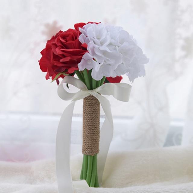 Bouquet Sposa Piccolo.Perfectlifeoh Romantico Da Sposa Orange Damigelle D Onore
