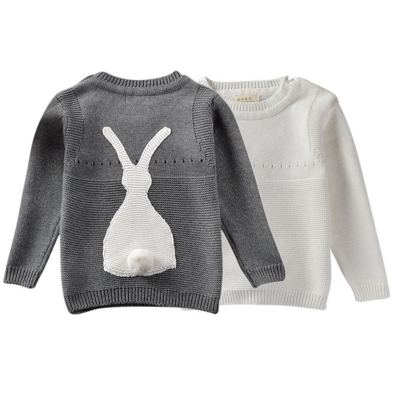 Autumn Baby Boys Girls Sweater Toddler Girls Jumper Knitwear Rabbit Long-Sleeve Pullover for Childrens Clothing