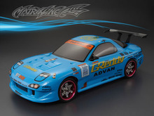 1set MAZDA RX7 1/10 1:10 RC PC body shell 195 width Transparent clean no painted drift hsp hpi trax Tamiya
