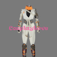Game OW White Soldier 76 Jacket Cosplay Costume for Adult Men Halloween Party Christmas