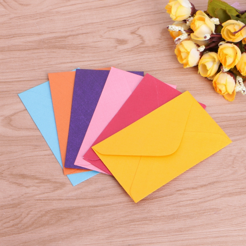 50Pcs Retro Blank Mini Paper Envelopes Wedding Party Invitation Greeting Cards Gift