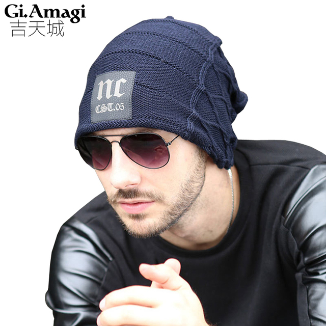 New Fashion Hats Men Women Winter Knit Hat Cap Hip Hop outdoor Snow Caps Hat Skull Chunky Baggy Warm Skullies, Touca Gorro