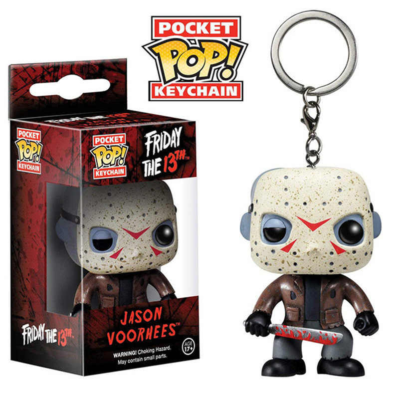 Funko Pop Bolso Jason Voorhees Friday the 13th Keychain Figura de Ação Brinquedo