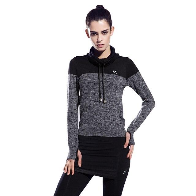 Femmes Gym Fitness Exercice Yoga Jogging Sport Chemises À Manches Longues  Tops de Course Run Sport aa77de4835c