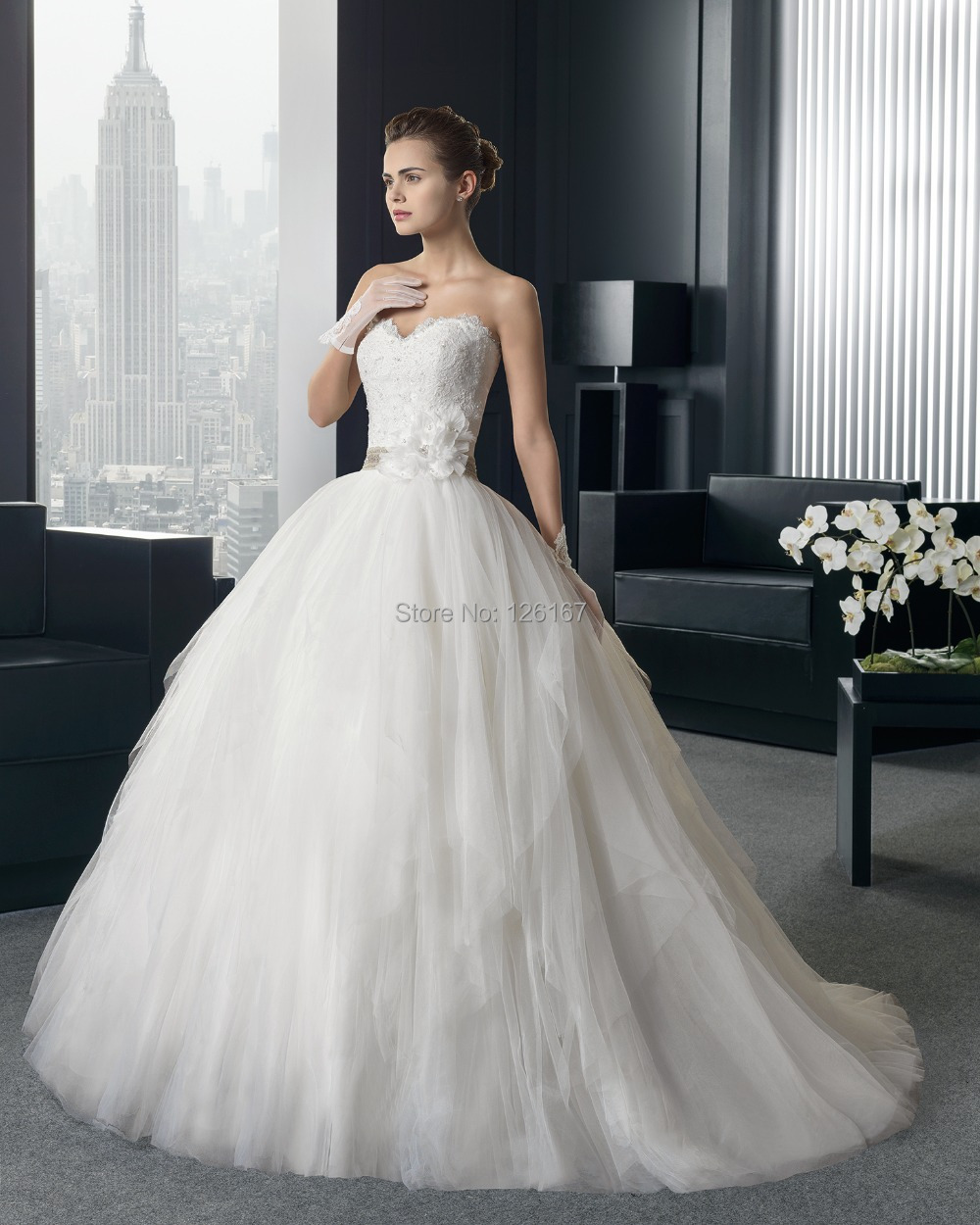 Wholesale Price Lace Pleat Tulle Handwork Flowers Fluffy Wedding ...