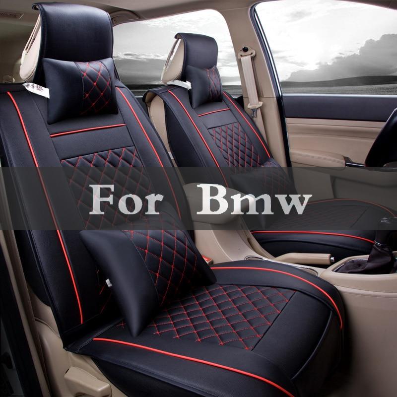 Leather Universal Car Seat Cover Vehicle Cushion Pad Styling For Bmw E36 E40 F30 F10 E90 1 3 Series 7 E46 E70 E60 5 new dianogstic tool for all bwm e31 e36 e60 e65 e70 series car tools seat occupancy sensor emulator air bag scan tool simulators