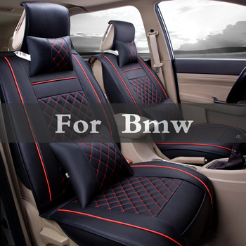 Leather Universal Car Seat Cover Vehicle Cushion Pad Styling For Bmw E36 E40 F30 F10 E90 1 3 Series 7 E46 E70 E60 5