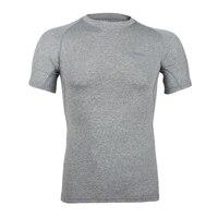 Respirável Esporte de Fitness Musculação Ginásio Fino T Shirt Homens Meias De Compressão Em Execução Camisetas Basquete Crossfit Sob