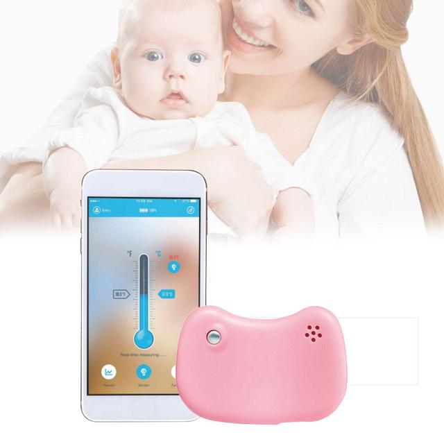 24-Hour Intelligent Baby Fever Monitor With Wireless Alerts IOS And Android Smart Bracelet Bluetooth Monitor Thermometer