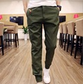 2016 Hot japanese style stylish pant men Jogger Pants Men Solid Fashion Ankle-tied Slim Fit Youths Mens pantalon homme hombre