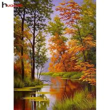 Huacan 5D Diamond Embroidery Sale Landscape Pictures Of Rhinestones Diamond Painting Full Square Forest Cross Stitch Home Decor(China)