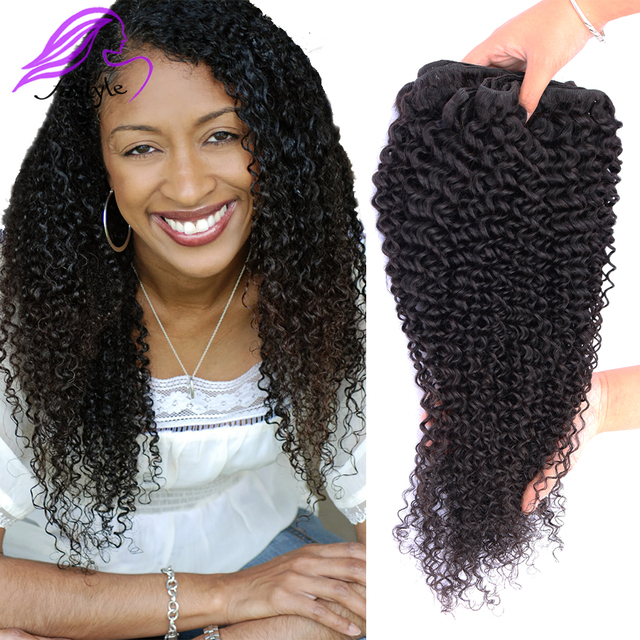 Brazilian Virgin Hair Kinck Curly Human Hair Extensions Aliexpress