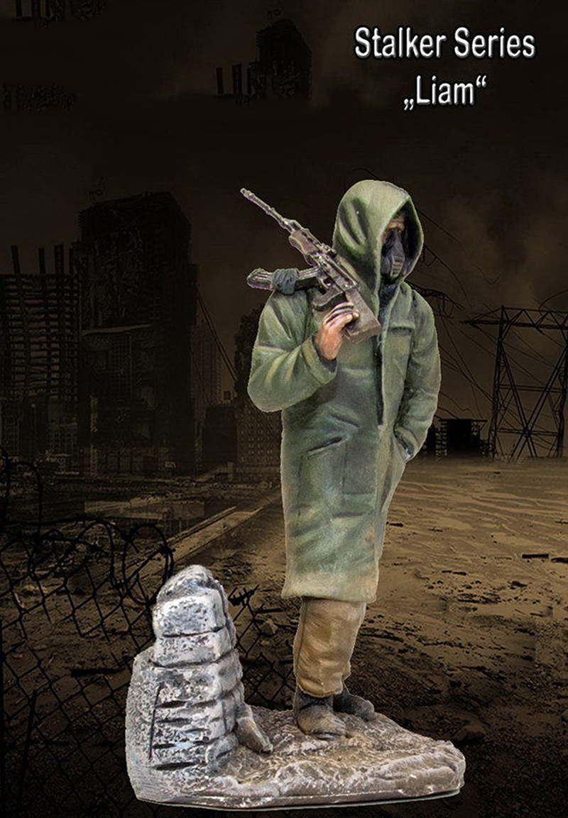 1/35 Stalker Series Liam With Base Soldier  Toy Resin Model Miniature Kit Unassembly Unpainted