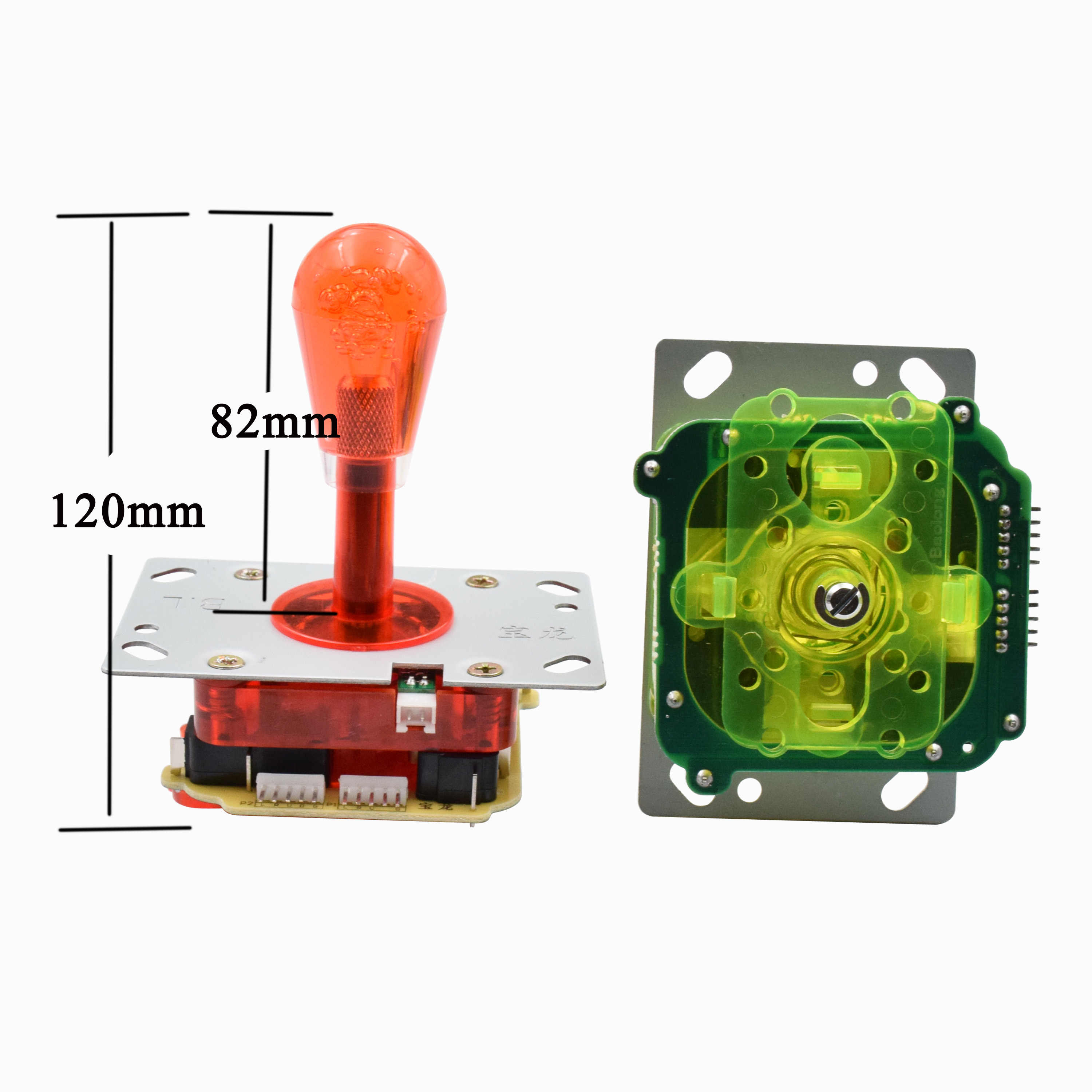 New style ZIPPY Joystick with illumianted lights for Arcade Jamma game with high quality micro switches for Game Console
