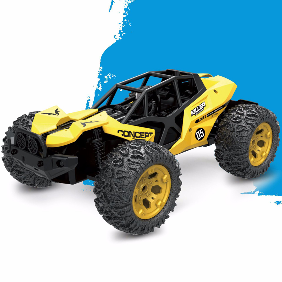 RC Car 4WD 2.4GHz 1:12 Climbing Car 4x4 Double Motors Bigfoot Car Remote Control Model Off-Road Vehicle Toy For Boys Kids Gift mst 532141 cmx 1 10 4wd fj40 kit off road car climbing simulation model car