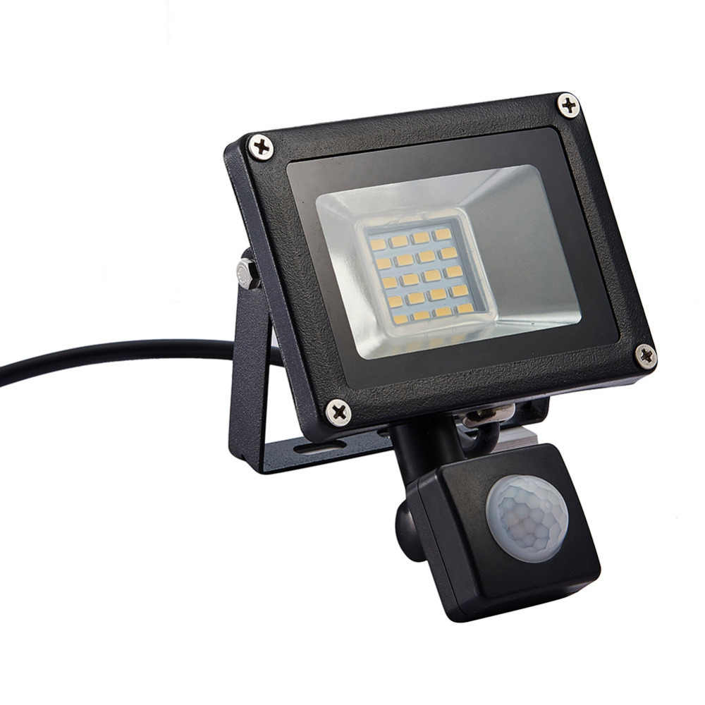 Наружного освещения светодио дный прожектор светодио дный Spotlight светодио дный отражатель 20 Вт прожекторы прожектор с движения PIR Сенсор AC 220 В-240 В