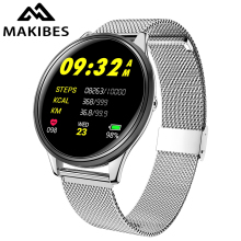 цена на Makibes F1 Smart Watch 1.3'' Toughened Glass Touch Screen Smartwatch Man Women Blood Pressure IP68 Waterproof Fitness Tracker