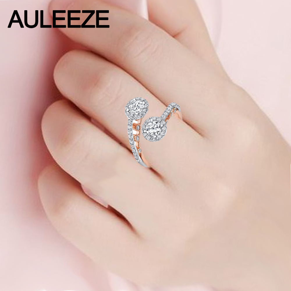 Aliexpress.com : Buy Whimsical Filigree Two Stone Moissanites Ring ...