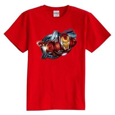 Niños camiseta iron man hero 8 colores de verano de manga corta 100% algodón de dibujos animados niño niña kid t shirt