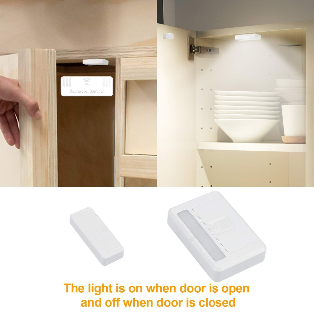 Us 5 9 Magnetic Motion Sensor Wireless Closet Light Stick Led Lights Lighting Battery Operated Lamp For Under Cabinet Wardrobe In Night