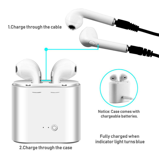 I7s TWS Bluetooth Earphone Stereo Earbud Bluetooth Headset with Charging Pod Wireless Headsets for All Smart Phone 4