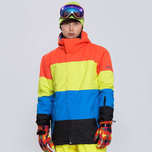 Gsou Snow New Outdoor Multi colored Skiing Jackets Winter Windproof  Breathable Male Skiing Clothes Winter Ski Jackets Suit Men 6eacac100
