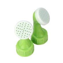 2 pçs tampa de garrafa sprinkler pvc plástico jardim spray de água sprinkler planta bico de rega ferramenta pouco bocal aspersor cabeça