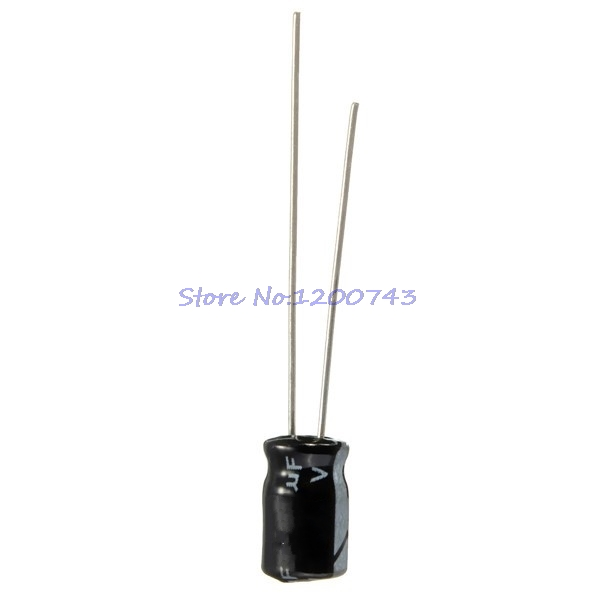 50pcs/lot Higt quality 25V220UF 6*12mm <font><b>220UF</b></font> <font><b>25V</b></font> 6*12 Electrolytic capacitor In Stock image