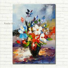Hot sale flower oil Painting on the Wall wall art picture home Decoration handmade knife painting Canvas for living room