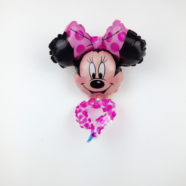 XXPWJ 1pcs Free Shipping New mini hand ring Minnie Mickey aluminum balloon children's toys party birthday balloons