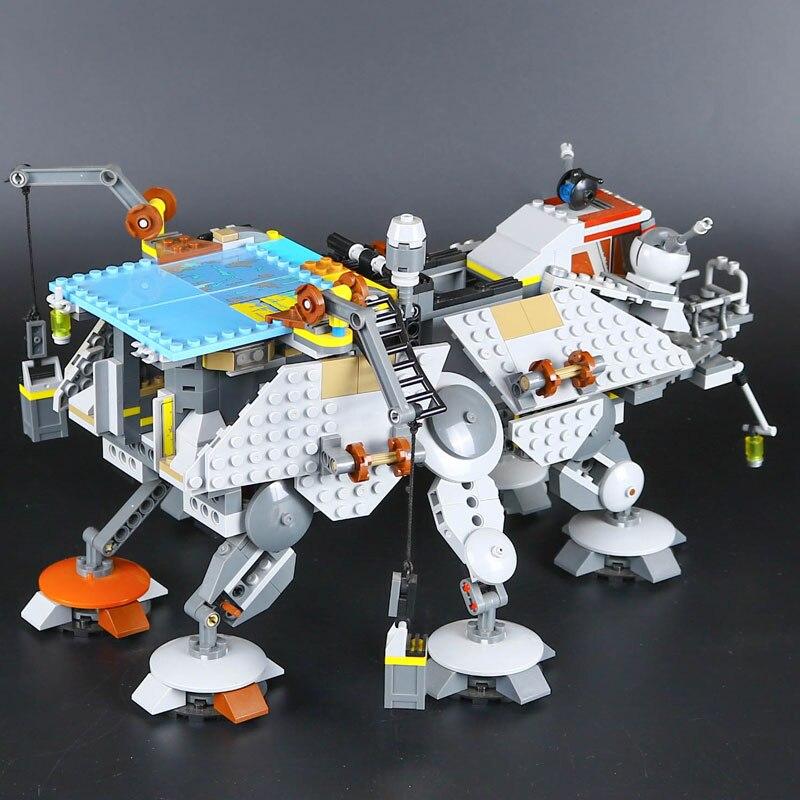 1022pcs 05032 Captain Rex's AT-TE Walker Stormtrooper Compatible Star Legoe Wars 75157 Model Building Blocks Bricks Toys for kid конструктор lepin star wnrs шагающий вездеход at te капитана рекса 1022 дет 05032