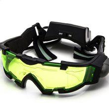 Ajustável LED Vidro Óculos De Proteção Da Motocicleta Corrida de Motos Caça Óculos  Óculos de Visão Noturna Com Flip-out Luz À Pr.. 9debdf8a8b