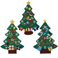 Необычная Рождественская елка Набор с 26 съемными орнаментами войлочные рождественские ручной работы украшения для рождественской вечерин...