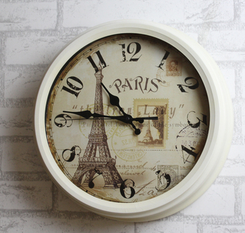 Special European retro fashion creative living room mute wall clock wrought iron decorative clocks
