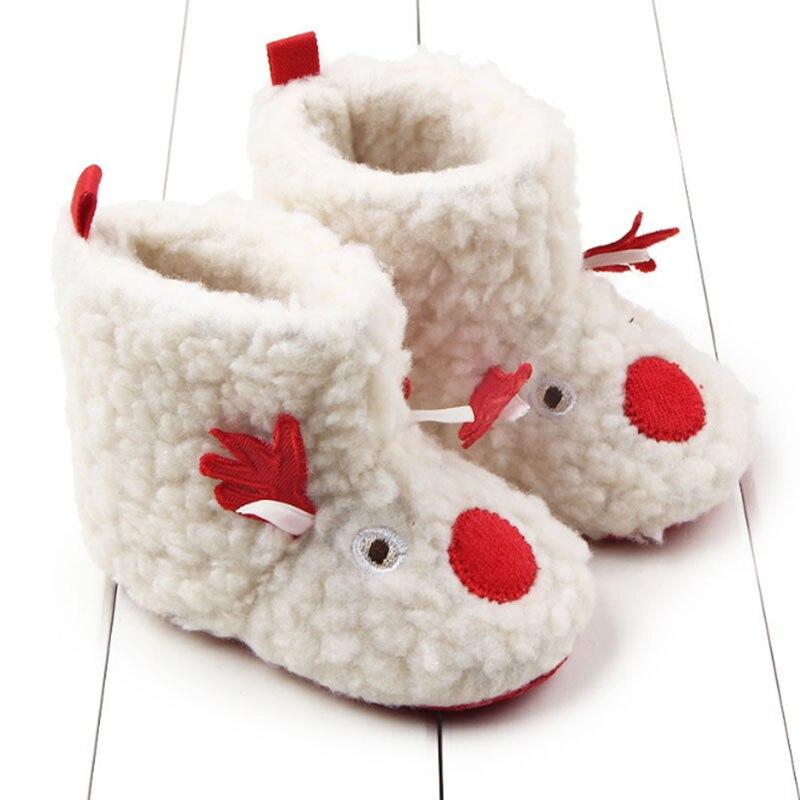 0-12 Monate Weihnachten Neujahr Neugeborenen Jungen & Mädchen Samt Elch Lernen Schritt Schuhe Stoffschuhe Warme Baumwolle Wolle Bett Schuhe Xz15 Kataloge Werden Auf Anfrage Verschickt