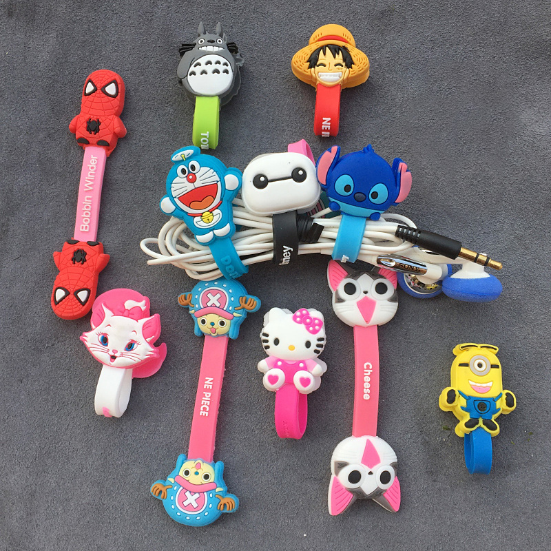Cartoon-Cable-Organizer-Bobbin-Winder-Protector-Wire-Cord-Management-Marker-Holder-Cover-For-Earphone-iPhone-Sansung