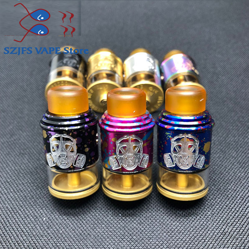 Apocalypse GEN 2 RDA Atomizer With Wide Bore Drip Tip 24mm Rebuildable Vaporizer Tank For 510 E Cigarette Box Mod Edc Diy Goon