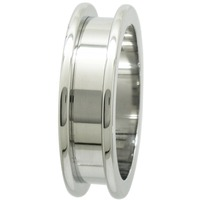 28MM 316L SURGICAL STAINLESS STEEL FLESH TUNNEL