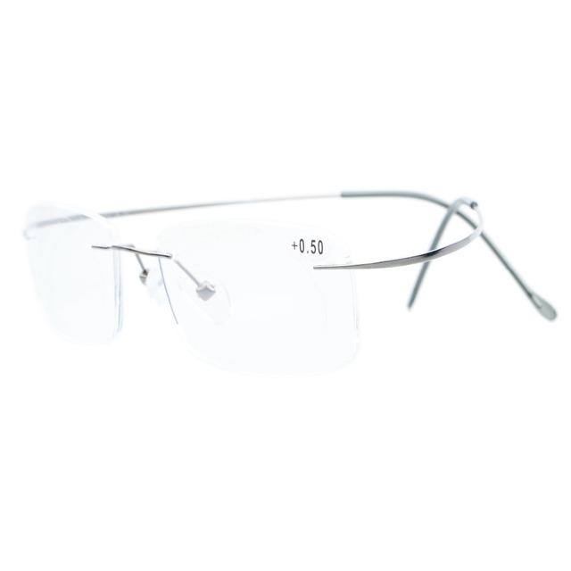 Das Mulheres Dos Homens Sem Aro de Titânio Óculos de Leitura Leitores Eyekepper R1508 + 0.0/0.5/0.75/1.0/1.25/1.5/1.75/2.0/2.25/2.5/2.75/3.0