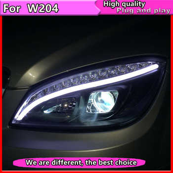 Car Styling for Mercedes Benz W204 C180 C200 C260 Headlights 2007-2011 Auto LED Headlight DRL Double Lens  Beam HID bi Xenon - DISCOUNT ITEM  20% OFF All Category