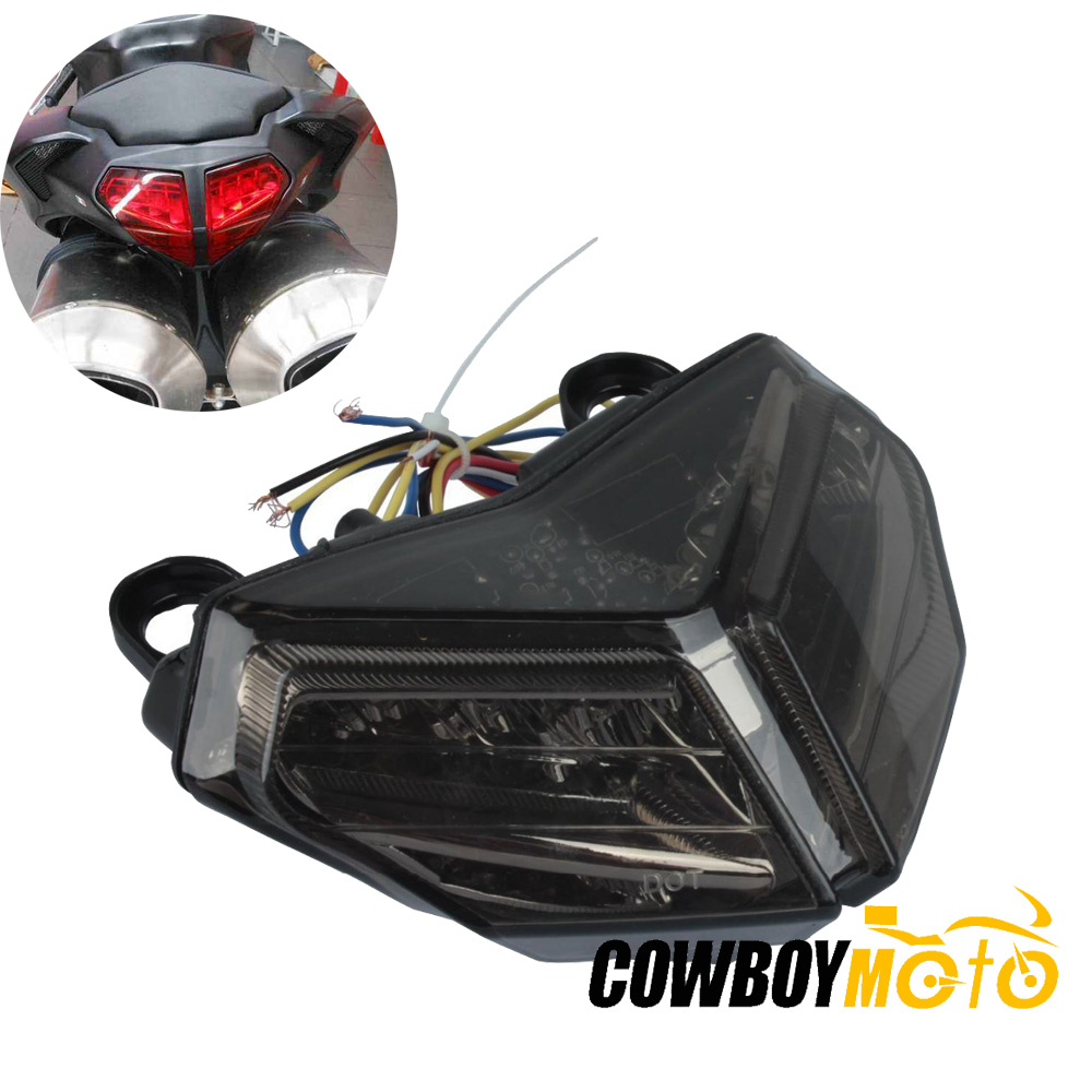 motorcycle integrated led brake tail light w turn signal. Black Bedroom Furniture Sets. Home Design Ideas