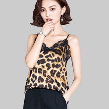 shintimes New Leopard Lace Top Women Ladies Summer Tops 2019 Camis Sleeveless Vintage Womens Clothing Female Tank Haut Femme