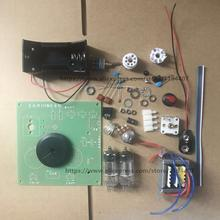 1 יח\חבילה DC שני מנורת PCB לוח צינור רדיו ערכת DC שני אור FM צינור רדיו ערכת PCB לוח הטוב ביותר איכות