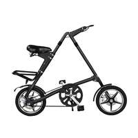 Folding Bike 16 Inch Wheel BXW Complete Road mini Bike Retro Frame New Creative Show Performance Bicycle