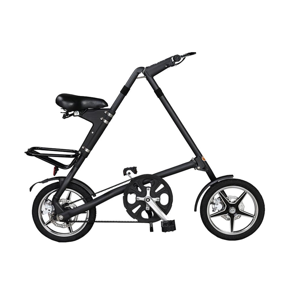 Folding Bike 16 Inch Wheel BXW Complete Road mini Bike Retro Frame New Creative Show Performance Bicycle
