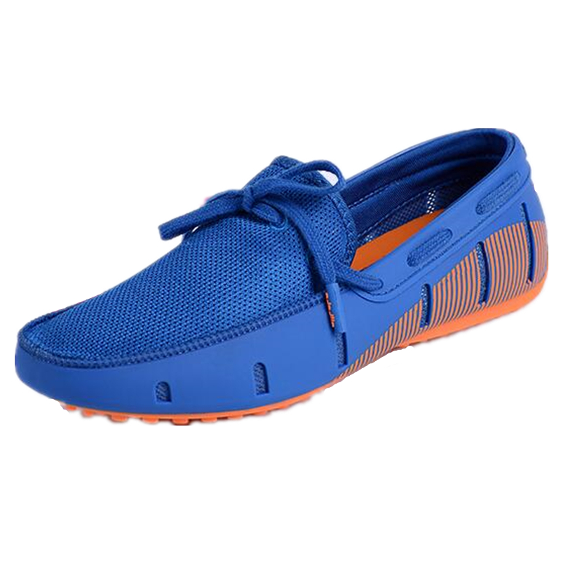ФОТО Plus Size 45 46 Men Flats Casual Shoes Breathable Air Mesh Driving Sheos Summer Loafers TPU Male Boat Shoes Moccasines XK032714