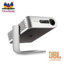 Viewsonic m1 + portátil dlp mini projetor bateria jbl alto falante 250 ansi lumen 3d hdmi android wifi tela espelhamento bluetooth 16 gb