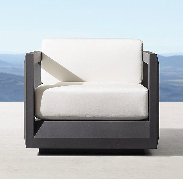 Silla de salón de aluminio de patio de muebles al aire libre clásica